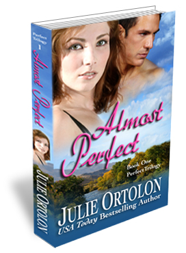 Almost Perfect Print Cover by Contemporary Romance Author Julie Ortolon