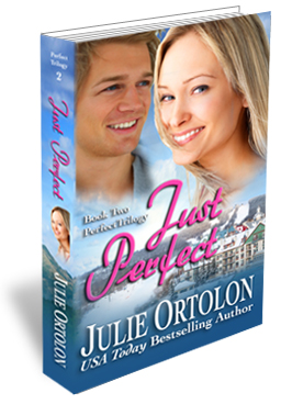 Just Perfect Print Cover by Contemporary Romance Author Julie Ortolon