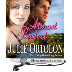 Audiobook cover for Almost Perfect, a romance novel by Julie Ortolon